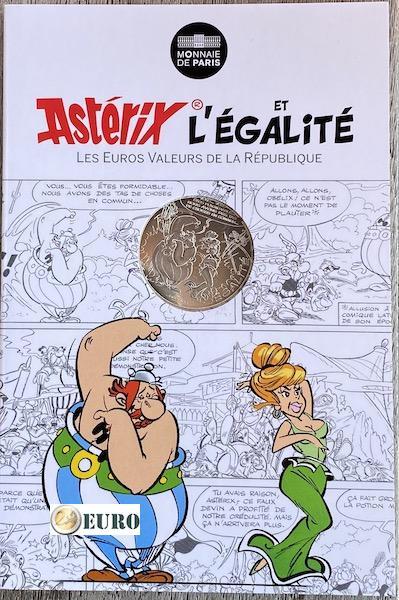 10 euros Francia 2015 - Asterix igualdad Las profecías del adivino - en coincard