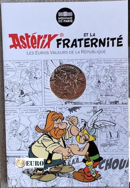 10 euros Francia 2015 - Asterix fraternidad en Helvecia - en coincard