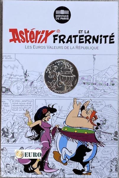 10 euros Francia 2015 - Asterix fraternidad en Hispania - en coincard