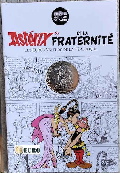 10 euros Francia 2015 - Asterix fraternidad y Latraviata - en coincard
