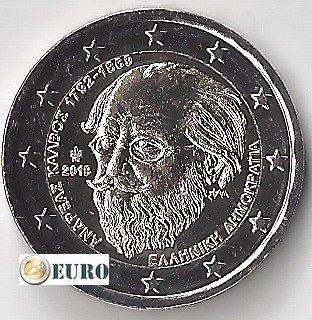 2 euros Grecia 2019 - Andreas Kalvos UNC