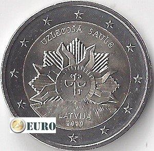 2 euros Letonia 2019 - Escudo - El Sol Naciente UNC
