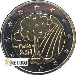 2 euro Malta 2019 - Naturaleza y Medio Ambiente UNC marca monetaria MdP