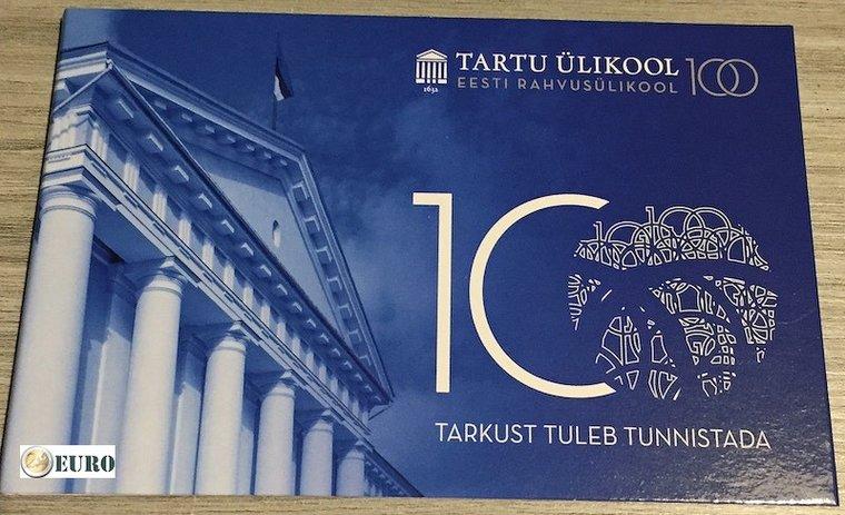 2 euros Estonia 2019 - Universidad de Tartu BU FDC Coincard