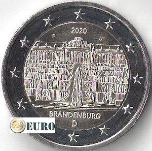 2 euros Alemania 2020 - F Brandemburgo UNC