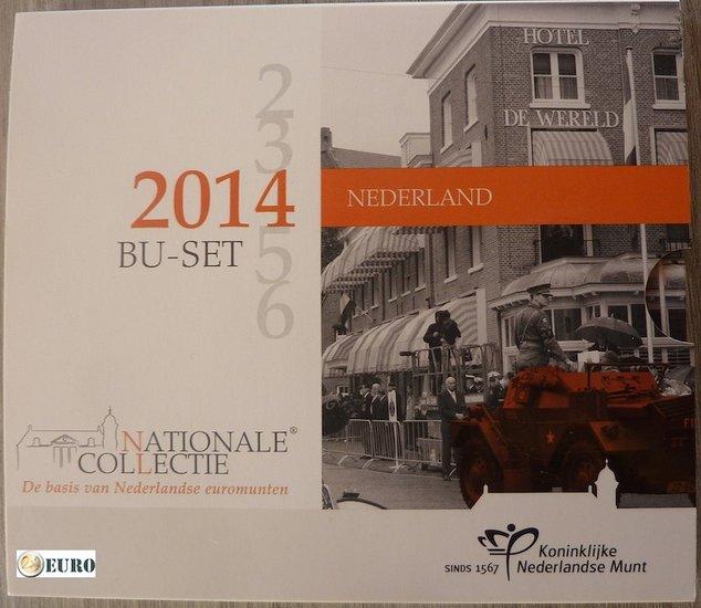 Serie de euro BU FDC Países Bajos 2014 Día de la Liberación