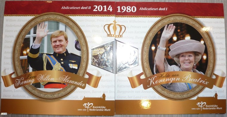 Serie de euro BU FDC Países Bajos 2013 + 2014 Abdicación