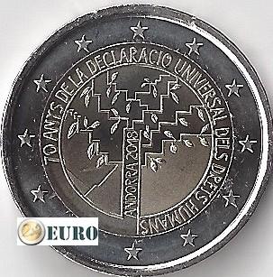 2 euros Andorra 2018 - 70 años Derechos Humanos UNC