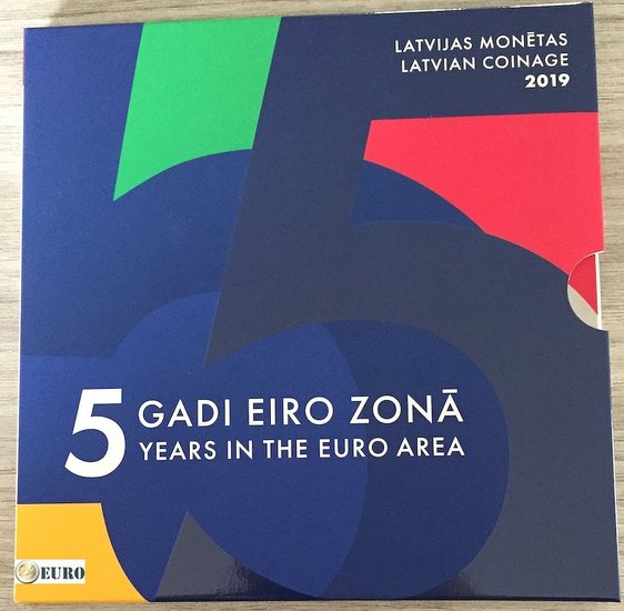 Euro set BU FDC Letonia 2019