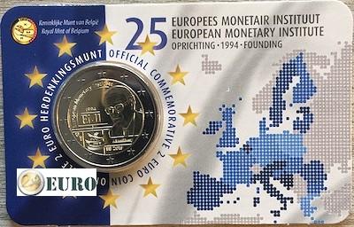 2 euros Bélgica 2019 - 25 años IME BU FDC Coincard NL