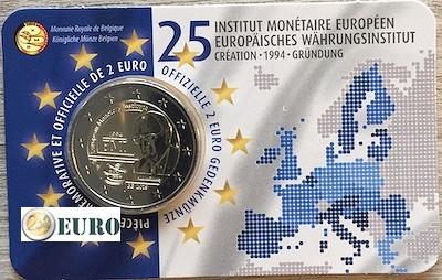 2 euros Bélgica 2019 - 25 años IME BU FDC Coincard FR