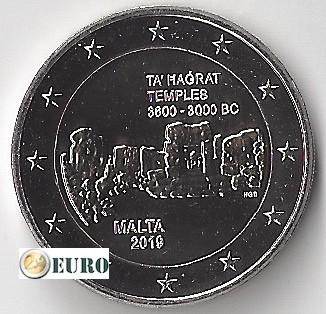 2 euros Malta 2019 - Templo Ta' Hagrat UNC marca monetaria F