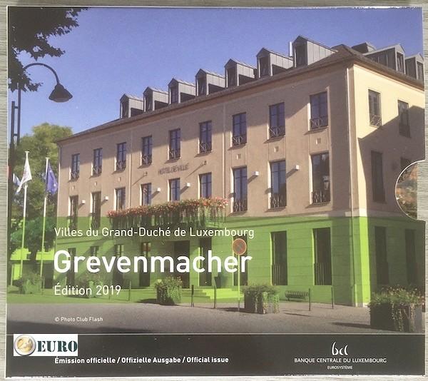 Serie de euro BU FDC Luxemburgo 2019 Grevenmacher + 2 euros Charlotte