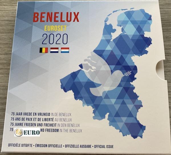 Serie de euro BU FDC Benelux 2020 Paz in Europa