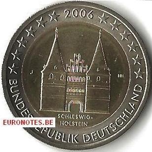 Germany 2006 - 2 euro J Schleswig-Holstein UNC