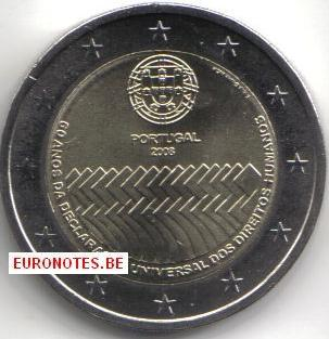 Portugal 2008 - 2 euro Human Rights UNC
