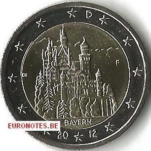 Germany 2012 - 2 euro F Bavaria UNC