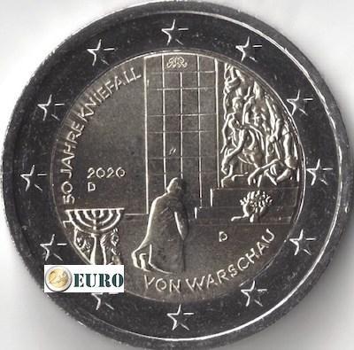 2 euros Alemania 2020 - D Genuflexión Varsovia UNC