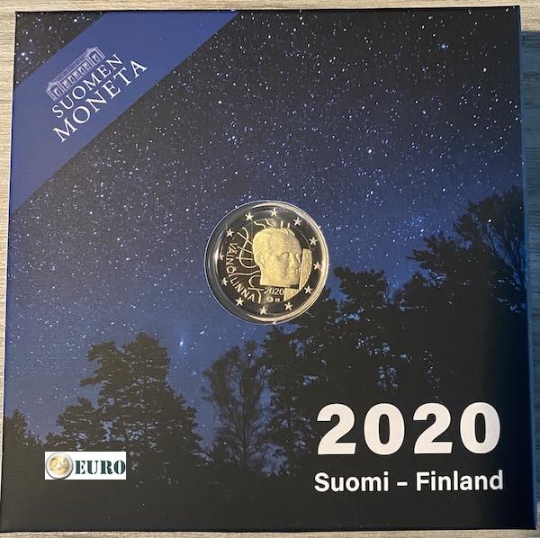 2 euros Finlandia 2020 - Vaino Linna BE Proof