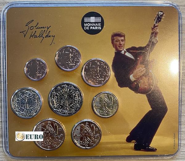 Serie de euro BU FDC Francia 2020 Miniset Johnny Hallyday guitarra vintage