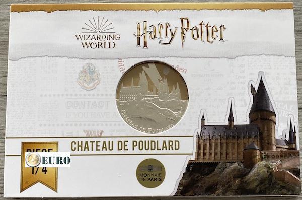 50 euros Francia 2021 - Harry Potter Castillo de Hogwarts BE Proof Plata colorado