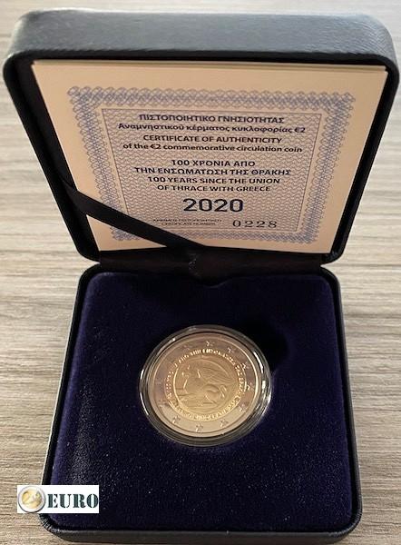 2 euros Grecia 2020 - Unificación de Tracia BE Proof