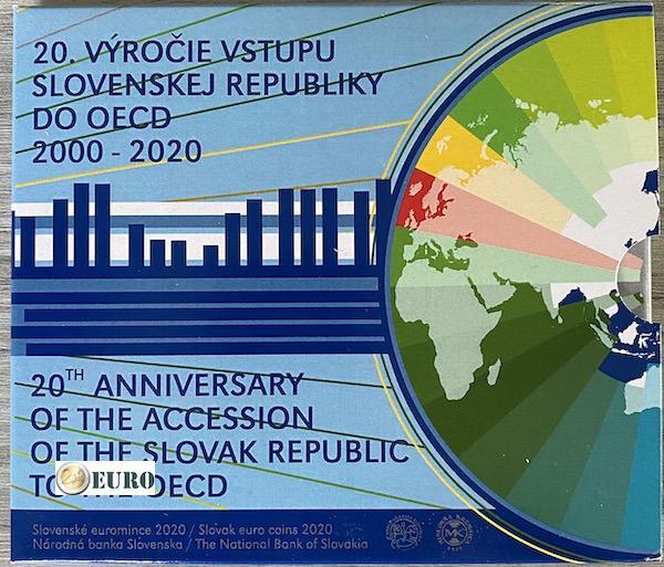 Serie de euro BU FDC Eslovaquia 2020 - Ingreso a la OCDE