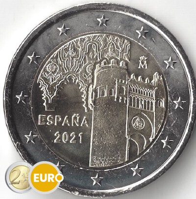2 euros España 2021 - Ciudad Histórica de Toledo UNC
