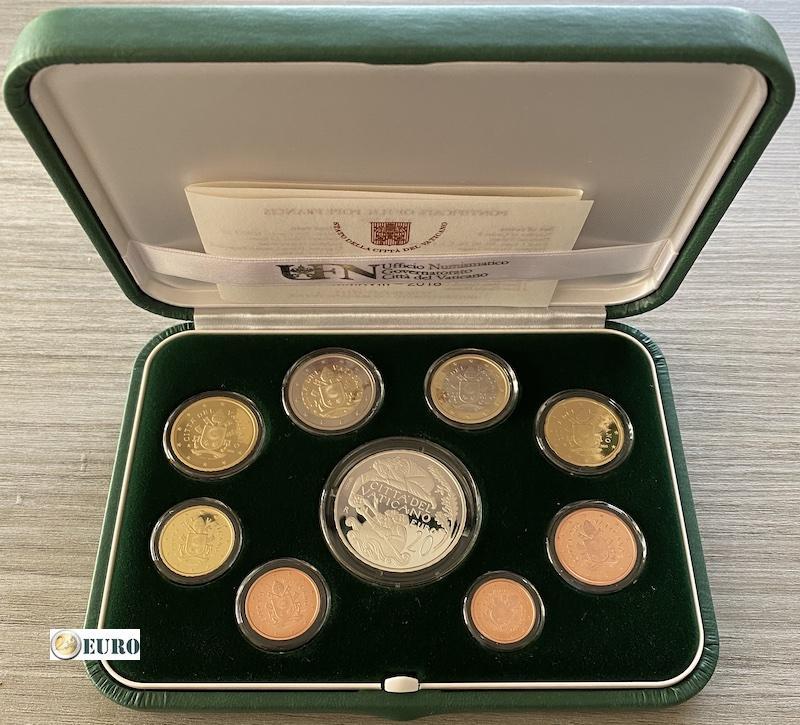Serie de euro BE Proof Vaticano 2018 + 20 euros plata