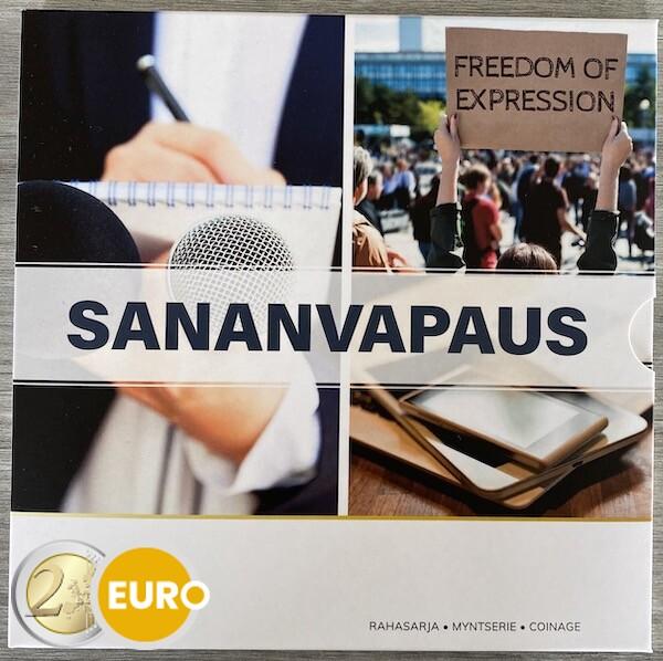 Serie de euro BU FDC Finlandia 2021 Libertad de expresión