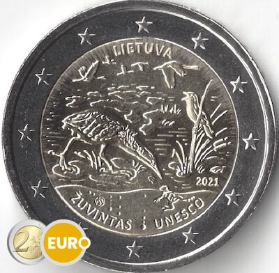 2 euros Lituania 2021 - Reserva de la Biosfera Zuvintas UNC
