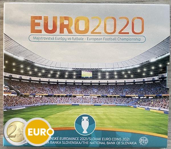 Serie de euro BU FDC Eslovaquia 2021 - EURO 2020 fútbol